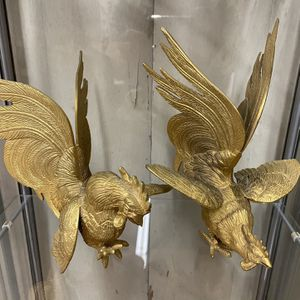 Nice pair of highly detailed brass Roosters for Sale in San Diego, CA