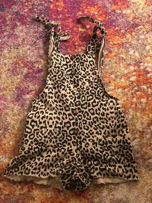 ECOWISH LEOPARD TIE STRAP, FRINGE BOTTOM OVERALLS, SIZE S for Sale in Burbank, CA