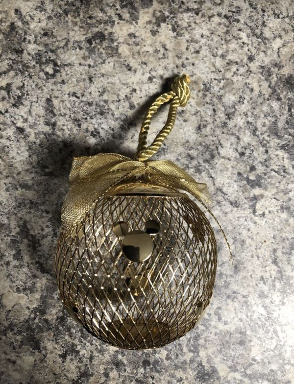 New Gold Disney Mickey Mouse Ball Ornament