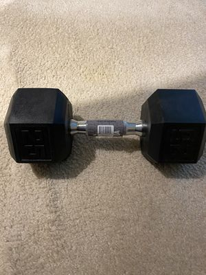 Dumbbell 25lb Cast Iron for Sale in Potomac, MD