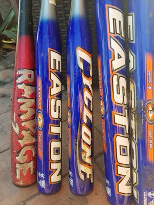 Easton baseball Bats all 6 $75 for Sale in Miami, FL