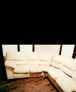 MAKE A OFFER ...Used Sectional Tan Couch NEEDS GONE TODAY ASAP PICK UP ONLY for Sale in Davenport,  IA