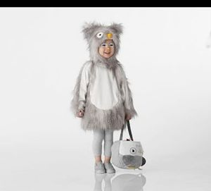 Pottery barn kids Owl costume size 4-6yrs and matching treat bucket for Sale in Lynnwood, WA