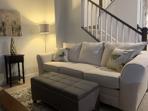 Light cream full length couches (x2) - VERY CLEAN - priced to sell! for Sale in Brandywine, MD