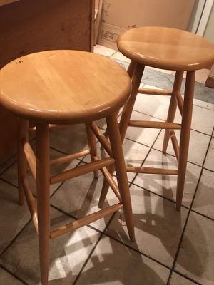 2 maple Bar Stools for Sale in Dracut, MA
