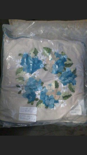 Decorative bouquet reef pillow with small pearls on flowers . for Sale in Blackwood, NJ