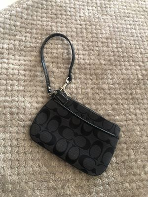 Black Coach wallet/coin purse for Sale in Riverside, CA