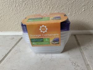 3 cup 'Signature Home' storage containers for Sale in Santa Fe, NM