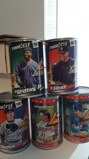 Five Factory Sealed Cans Jeter, Griffey jr, Piazza, Nomo all in a Can for Sale in Kissimmee, FL