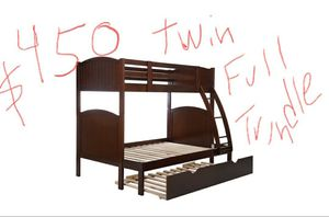 NEW TWIN FULL BUNKBEDS SOLID WOOD for Sale in Costa Mesa, CA