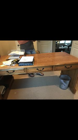Oak desk and credenza's for Sale in Broomfield, CO