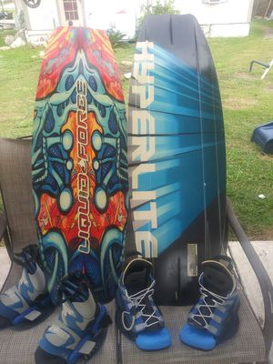 Surfboards with boots and life jackets two of them for Sale in Austin, TX
