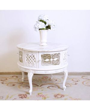 Vintage Rococo Shabby Chic Round Coffee Table White Antique for Sale in New York, NY