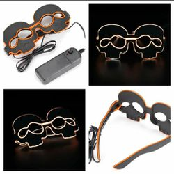 New Orange Light Up Led Flashing Skull Glasses for Sale in San Angelo,  TX