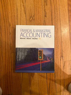 Financial and Managerial Accounting 13th Edition Textbook for Sale in Chicago, IL