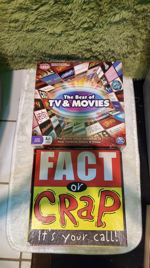 "Board games(2) ""fact or crap"", and ""the best of tv and movies"" pickup for $25 for Sale in Port Charlotte, FL"