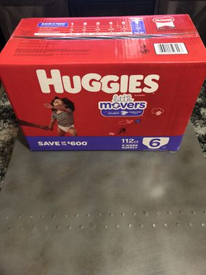 Diapers size 6 brand new. 112counts. for Sale in Murray, UT