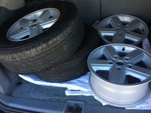 255.65R16 with 4 Aluminum rims and two tires all together $400 for Sale in Fremont, CA