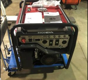 You know the name HONDA 6500 watt's used 6 times, generator has wheel kit!!!! for Sale in Baltimore, MD
