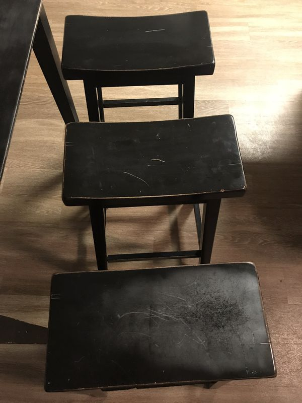 Tall Black Dining Table