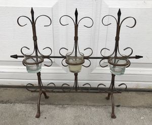 "Metal/Wrought Floor Standing Candle Holder (20"" x 16"") - $15 for Sale in Pomona, CA"