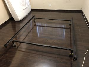 Wheeled Metal Bed Frame - Twin, Queen, or King for Sale in Glendale, CA