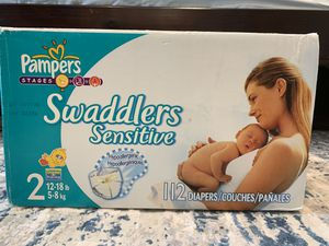Pampers swaddles Size 2- 112 count for Sale in Everett, WA