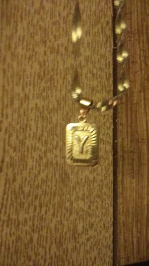Sentimental Y pendant and Gold chain for Sale in Spokane, WA
