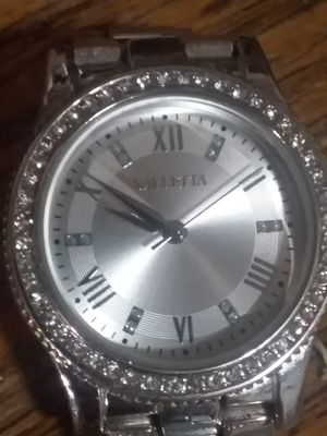 Valletta womens watch silver with cubic zirconia accents for Sale in Saint Joseph, MO