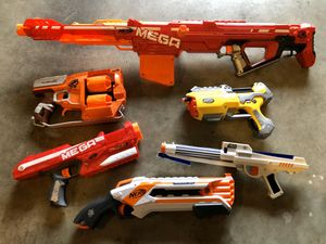 Assorted Nerf Guns - 6 Total for Sale in Everett, WA