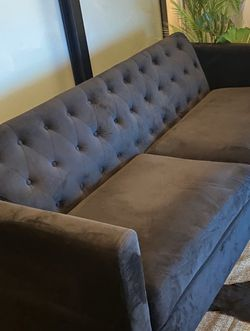 Black Velvet Sofa for Sale in Los Angeles,  CA