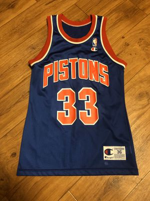 VINTAGE Grant Hill CHAMPION Jersey Sz 36 Small NBA Detroit PISTONS for Sale in Charleston, SC