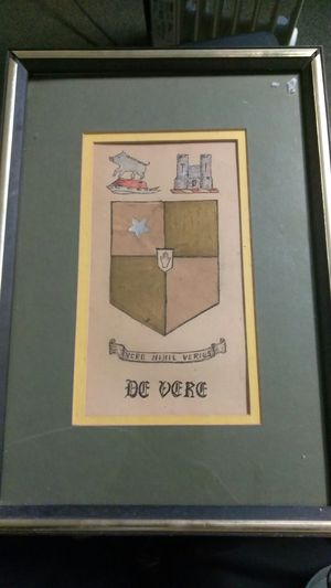 Naive hand colored family crest of Weir Clan for Sale in Knoxville, TN