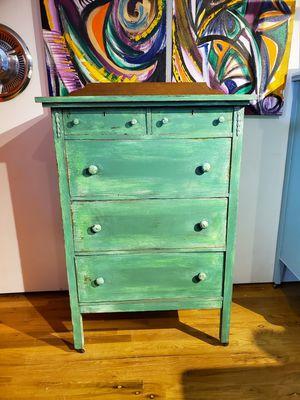 Antique Spring Green Farmhouse Dresser for Sale in Denver, CO