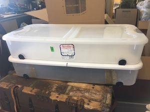 Two Sterilite 66 Qt Ultra™ Storage Underbed storage containers x2 for Sale in La Mesa, CA