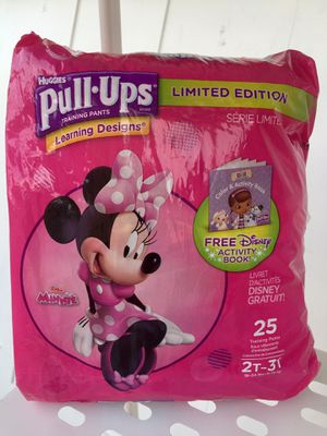 Huggies Pull-Ups Girls Size 2-3T (Only used 5) New, clean for Sale in Chula Vista, CA