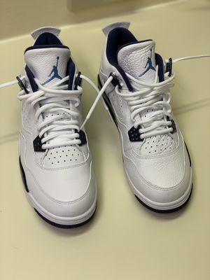 Jordan Retro 4 Size 10.5 - White/Legend Blue for Sale in West Palm Beach, FL