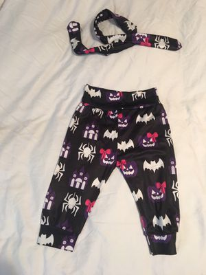 Halloween pants with my matching headband. 12 to 19 months for Sale in Deerfield Beach, FL