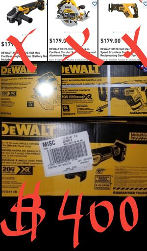 3, NEW DEWALT XR BRUSHLESS POWER TOOLS FOR $400, (TOOLS ONLY). for Sale in San Diego, CA