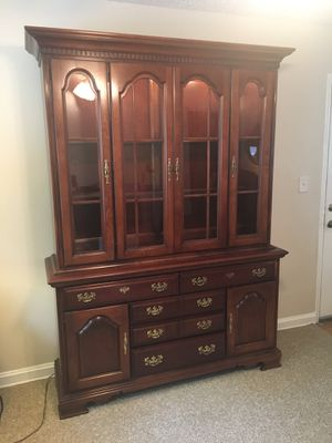 Solid cherry china cabinet and chest of drawers for Sale in Alexandria, VA