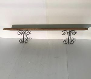 Wooden Wall Shelf - Decorative Metal Support. for Sale in Decatur, GA