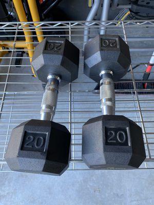 Rub Hex 20lb Dumbbells for Sale in FL, US