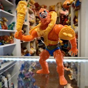 Vintage Heman and the Masters of the Universe Beast Man Action Figure With Yellow Armor And Meckaneck's Mace, Malaysia 1981 Soft Head MOTU Toy for Sale in Elizabethtown, PA