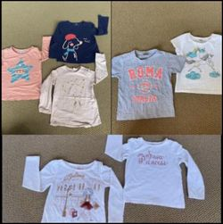 Girls Clothing , Shirts , Tops , Size 3/4 Years old Each For $3 for Sale in Sunol,  CA