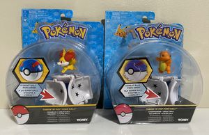 Lot of 2 Pokemon Throw N Pop Poke Ball Figures Charmander and Fennekin for Sale in Pompano Beach, FL
