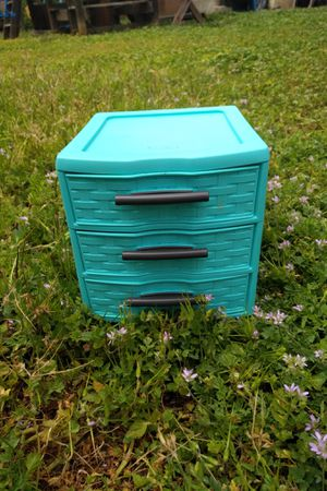 Blue plastic drawers for Sale in Los Angeles, CA