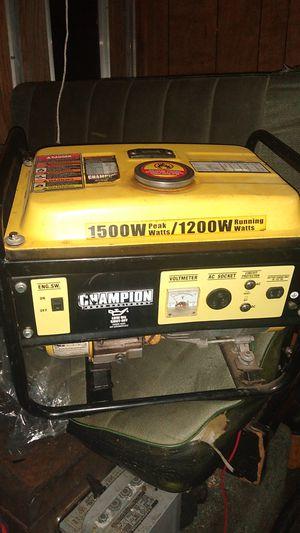 Generator /CHAMPION 1500W PEAK 1200W WORKING for Sale in Vancouver, WA