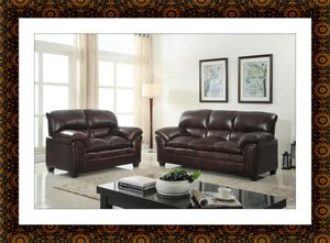 Burgundy sofa and love seat free delivery for Sale in Crofton, MD