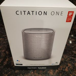 harman/kardon - Smart Speaker - Gray Model:HKCITATIONONEGRYAM for Sale in North Las Vegas, NV