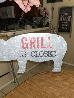Farmhouse Reversible Grill Sign for Sale in Perris,  CA
